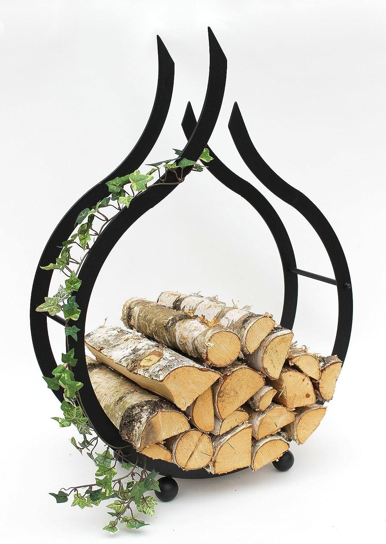 DanDiBo Chimenea Madera Estante Interior Chimenea Soporte de madera Llama 78 cm madera cesta chimenea madera soporte madera Estanterí a