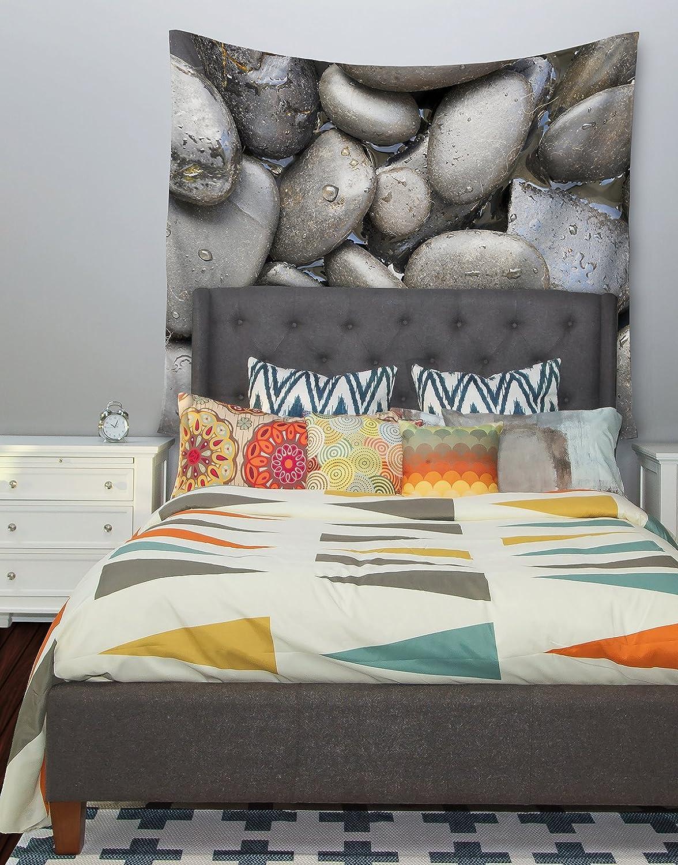 51 X 60 Kess InHouse Susan Sanders Skipping Stone Gray Rocks Wall Tapestry