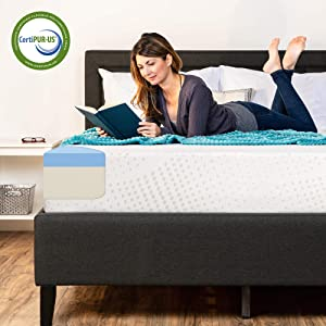 Best Choice Products 10in Queen Size Dual Layered Gel Memory Foam Mattress w/CertiPUR-US Certified Foam