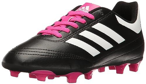 f67beb7a Adidas Goletto Vi J - Botas de fútbol para niños, Negro/Blanco/Rosa ...