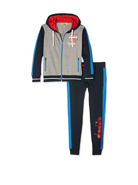 Diadora Tuta Sport Grigio Melange M  Amazon.it  Abbigliamento 9ef03b85066
