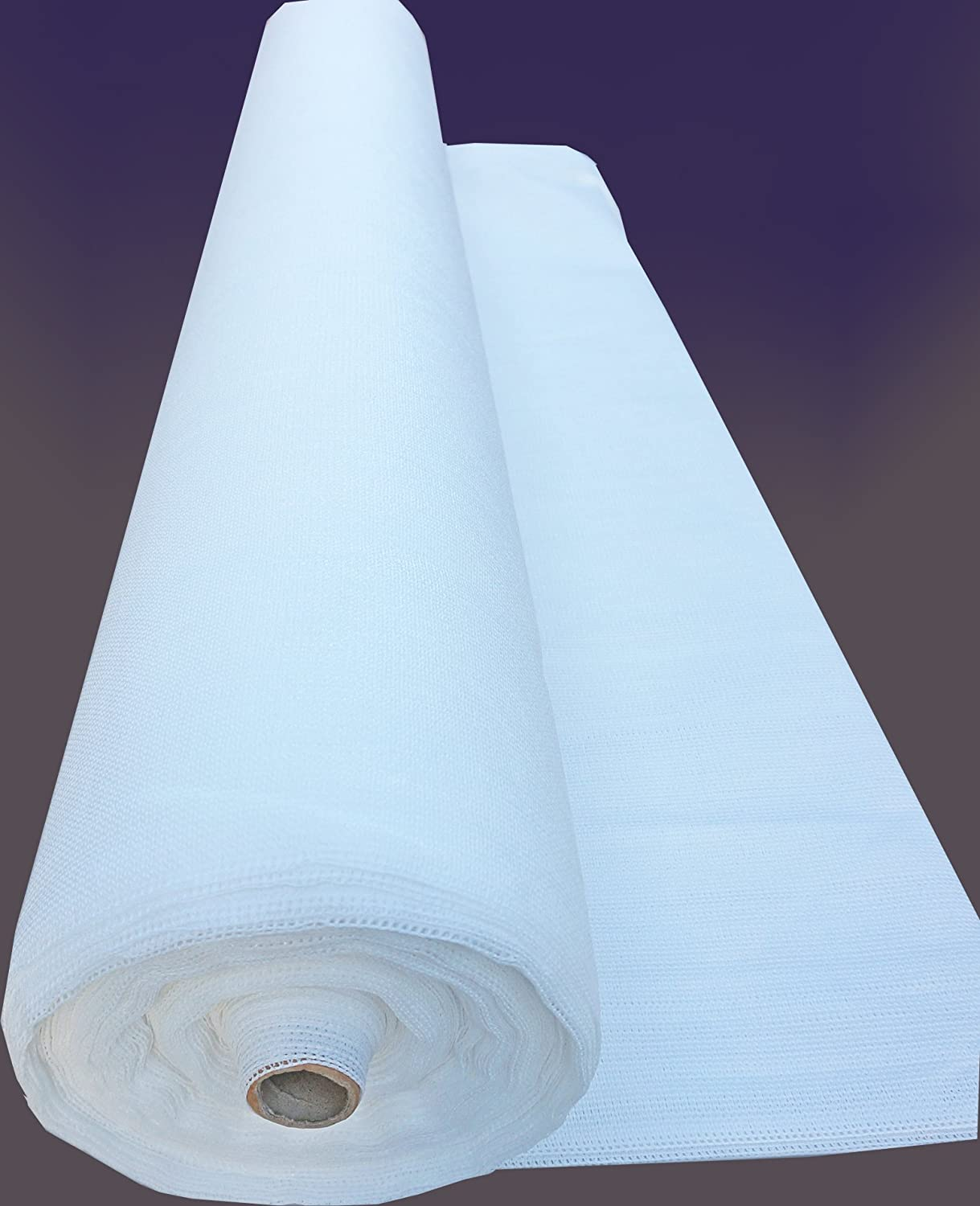 SHANS 90 UV Resistant Fabric Shade Cloth Pure White 20 by 50 ft with Clips Free