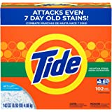 Tide Powder Laundry Detergent Mountain Spring 102 Loads, 143 Ounce