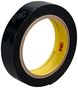 3M High Temperature Hook Fastener Tape SJ60H, Black, 1 in x 25 yd