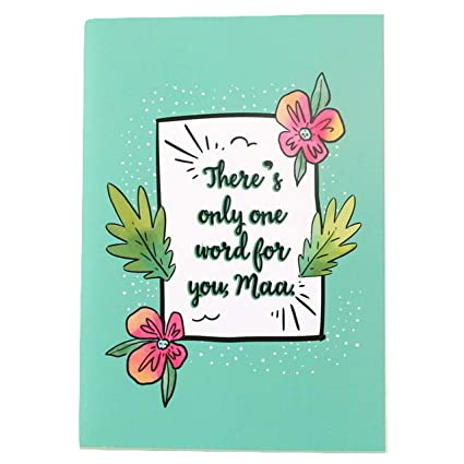 Oye Happy Mirror Greeting Card For Mother Gift For Mom Birthday Special 5 X 7 Inch