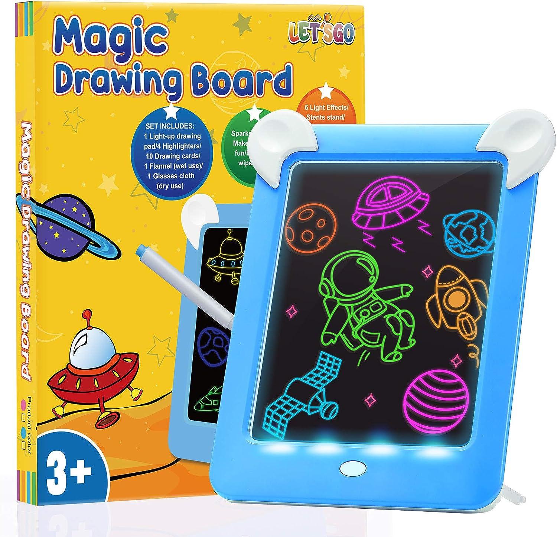 Rose DUTISON Ardoise Magique Grande Effa/çable Tableau Magiqu Pour les Voyages Cadeau Jouet Educatif pour Enfants