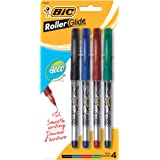 BIC Roller Glide Deco Roller Pen, 0.7mm, Assorted Colors, 4-Count
