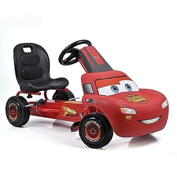 Hauck Cars Rayo McQueen Kart a pedales para niños | Neumáticos con perfil de goma | Freno de mano para las ruedas traseras | Asiento ajustable en 3 ...