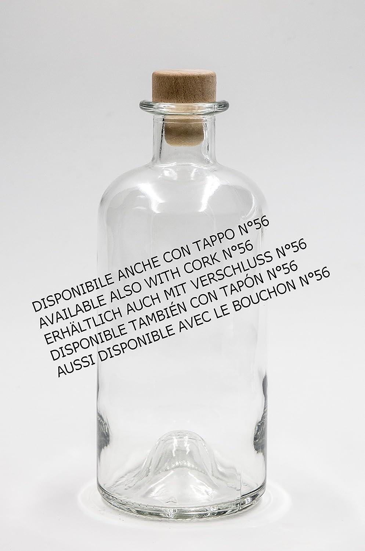 nr 1 glass bottle Antigua Tonda 500 ml flint glass cork stopper n/°22