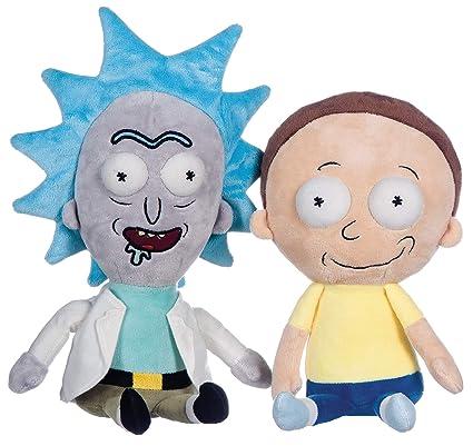 Whitehouse Conjunto 2 Felpa Rick y Morty 25cm Feliz Sonriendo Plushes Peluche Originales y Oficiales