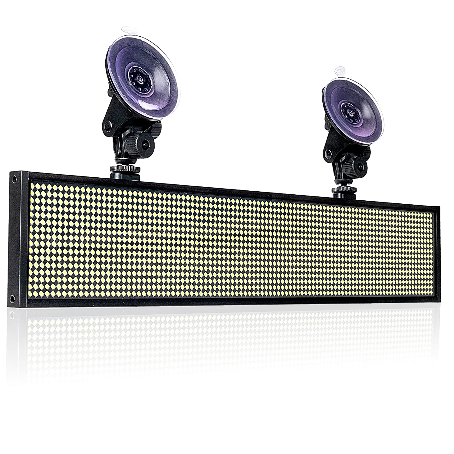 Working with Smartphone and Tablet Blue Leadleds P5 WIFI LED Sign Scrolling Message Display Board with 2 Car Sucker for Business