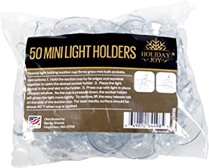 Holiday Joy - 50 Mini Light Holders for Windows - Made in USA