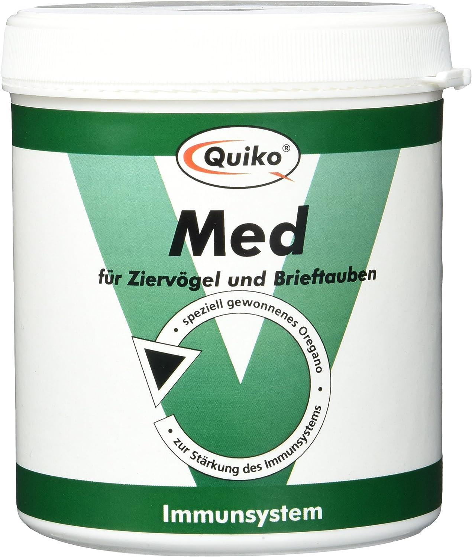 Quiko Med–Especialmente gewonnenes Oregano para pájaros Ornamentales y Carta Palomas a reforzar el immunsystems, Lata, 1er Pack (1x 250g)
