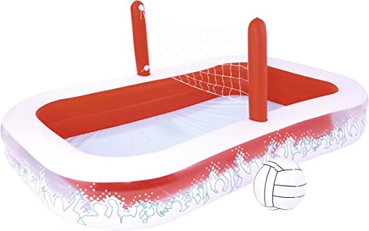 Piscina Hinchable Infantil con Red Voleibol Bestway Inflate-A-Volley 254x168x97 cm: Amazon.es: Jardín