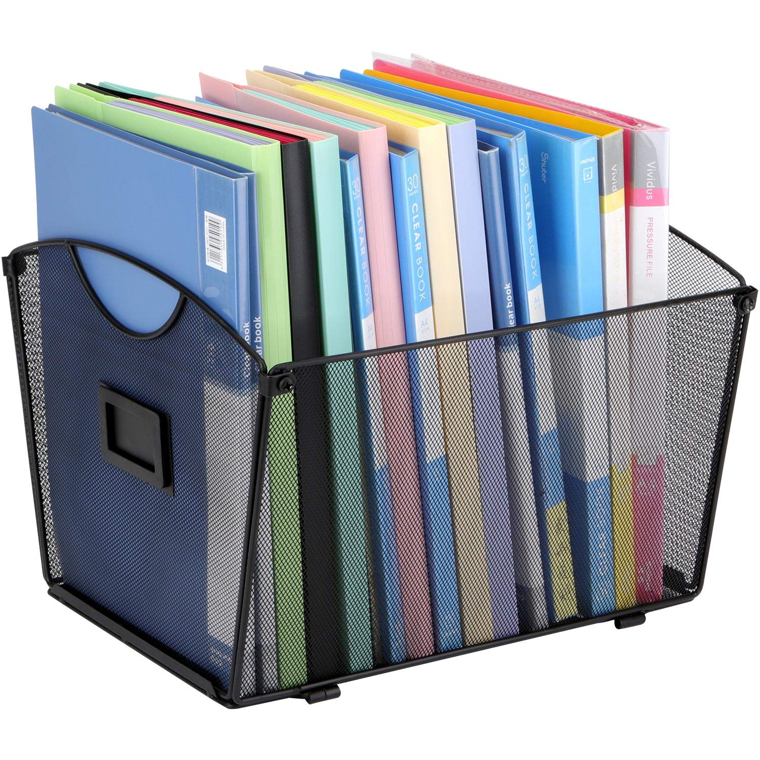 TOROTON Mesh Desktop Tub File Sorter Organizer, Letter Size, Storage File Crate for Documents, Magazines, Notebooks and Letter