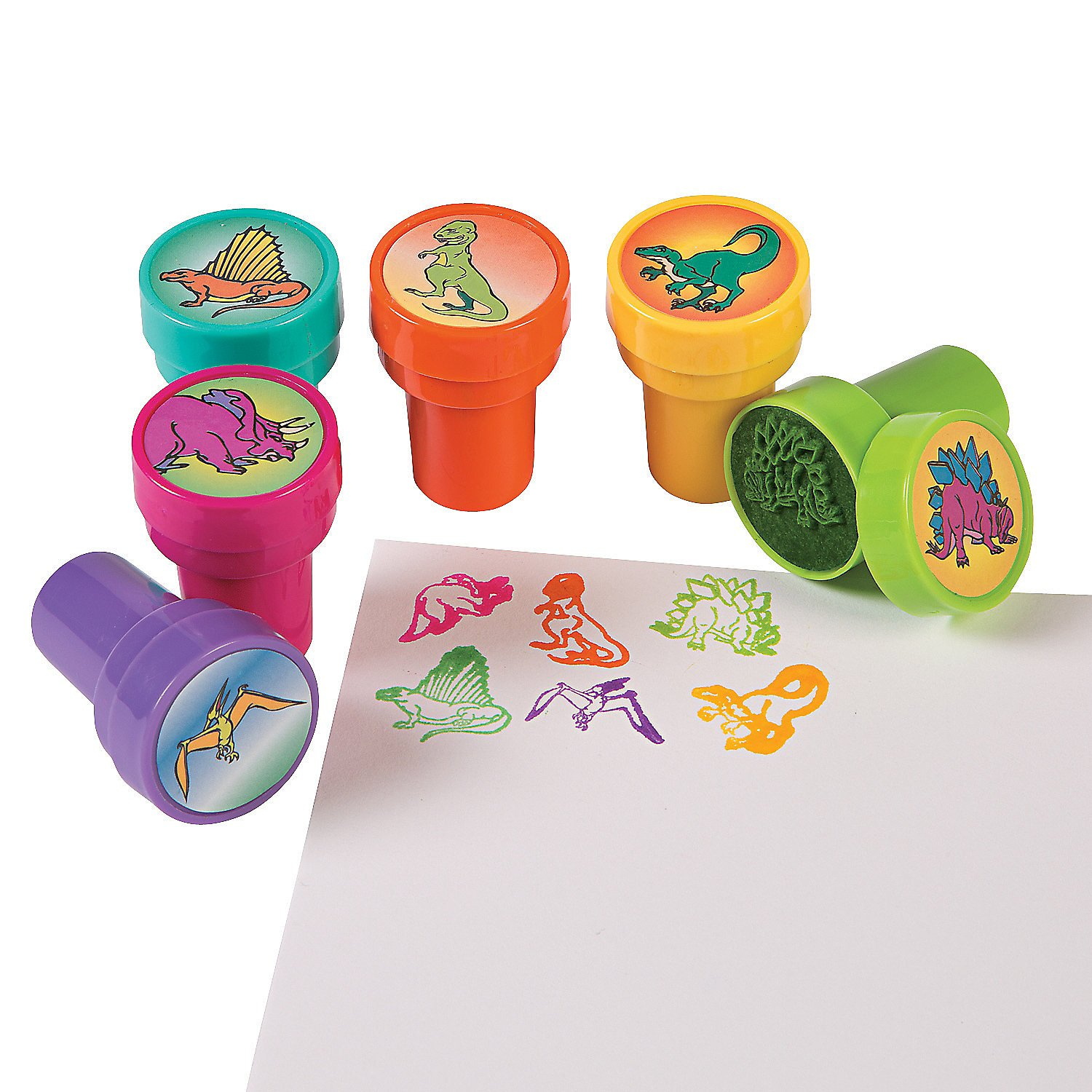 William & Douglas Dinosaur Party Bundle | Supplies Favors and Giveaways for Children's Dinosaur Birthday Party | Dinosaur Stickers, Cellophane Bags, Rings & Stampers by William & Douglas (Image #5)