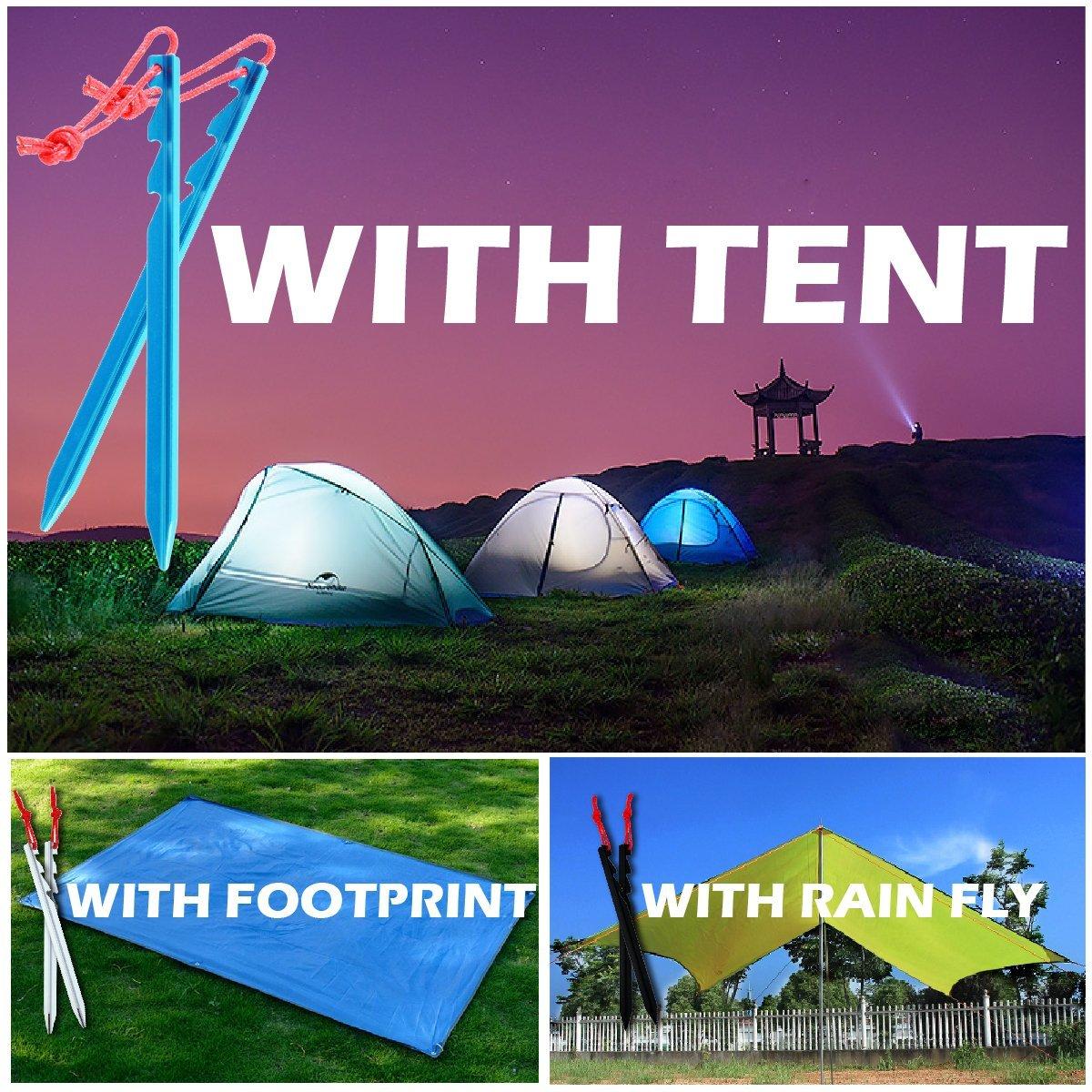 TRIWONDER Picchetti per Tenda a 10 Pezzi Picchetti da Campeggio Sabbia Neve Picchetti Lega di Alluminio