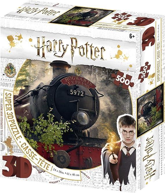 Prime 3D- Redstring - Puzzle lenticular Harry Potter Howgarts Express 500 Piezas (Efecto 3D) (HP32506)