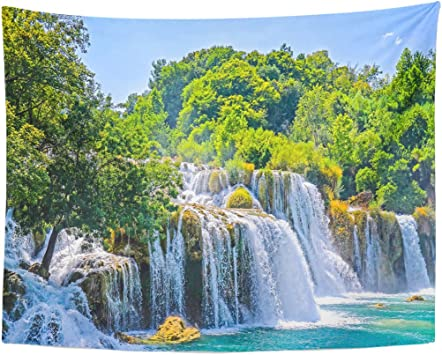 Tapestry Green Amazing Waterfall Forest Landscape Beautiful Cascade Home Decor Wall Hanging for Living Room Bedroom Dormisette 50 x 60 Inches: Amazon.es: Juguetes y juegos