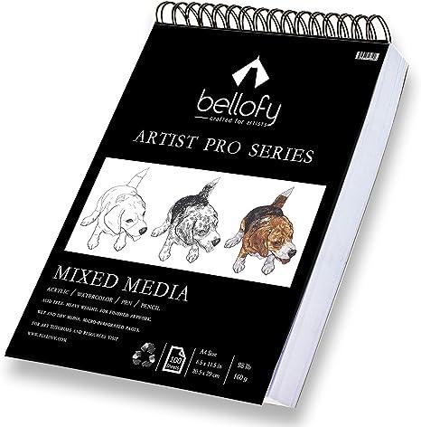 100 Sheets 60lb//100g 2 Pack Sketch Book AGPtEK Art Drawing Pad 9 X 12 inch