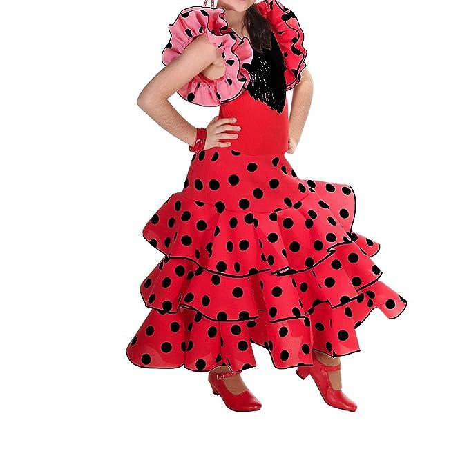 Vestido flamenco para niña rojo