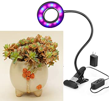 Indoor Garden Lamp Amazon led grow light profession plant lamp for indoor plants led grow light profession plant lamp for indoor plants 10w adjustable 6 level dimmable clip workwithnaturefo