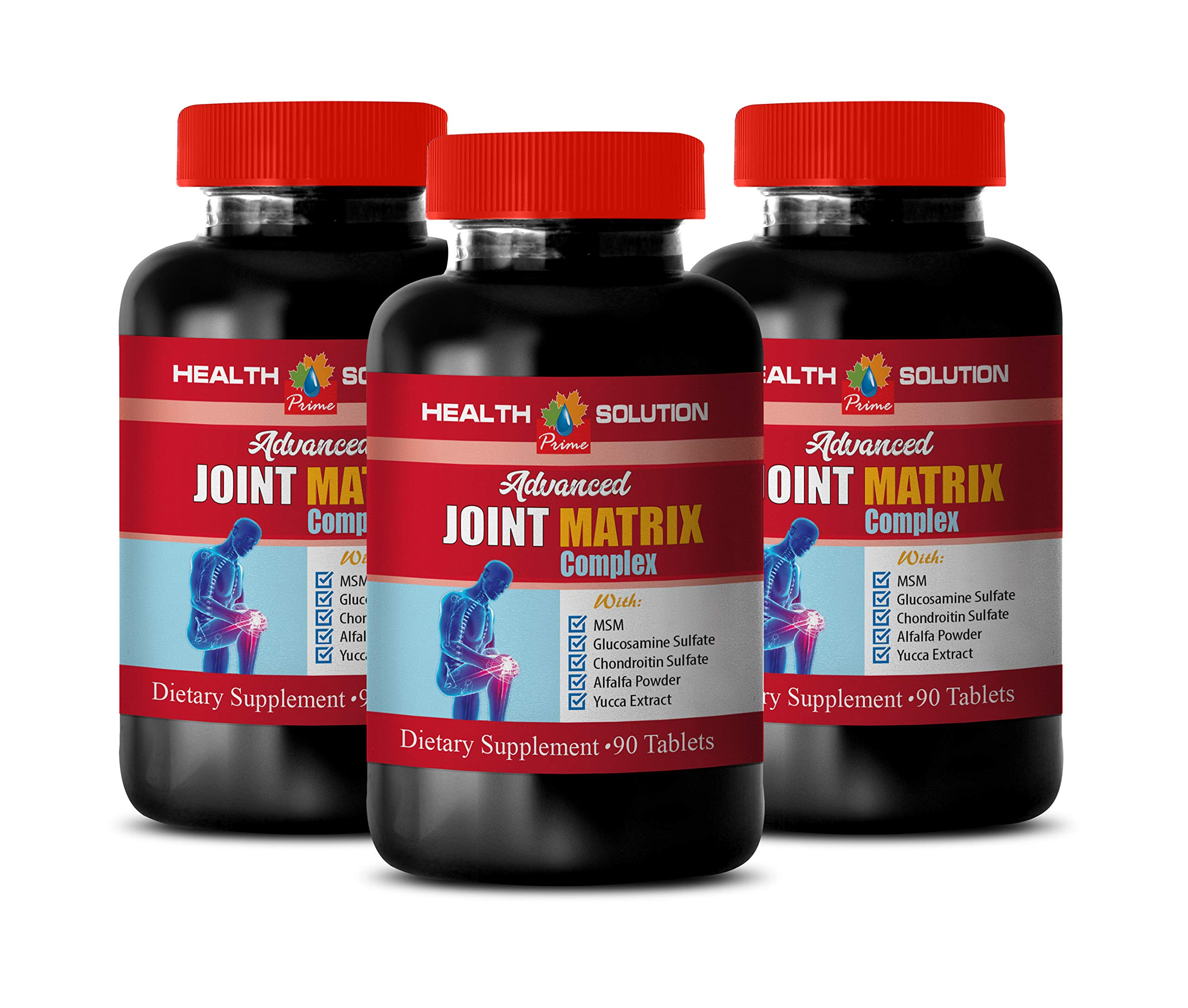 Joint Supplements for Men - Advanced Joint Matrix Complex - glucosamine Capsules for Adults - 3 Bottles 270 Tablets by Health Solution Prime
