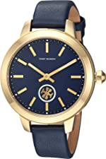 Tory Burch Collins Leather Watch Blue - Tbw1203 One Size