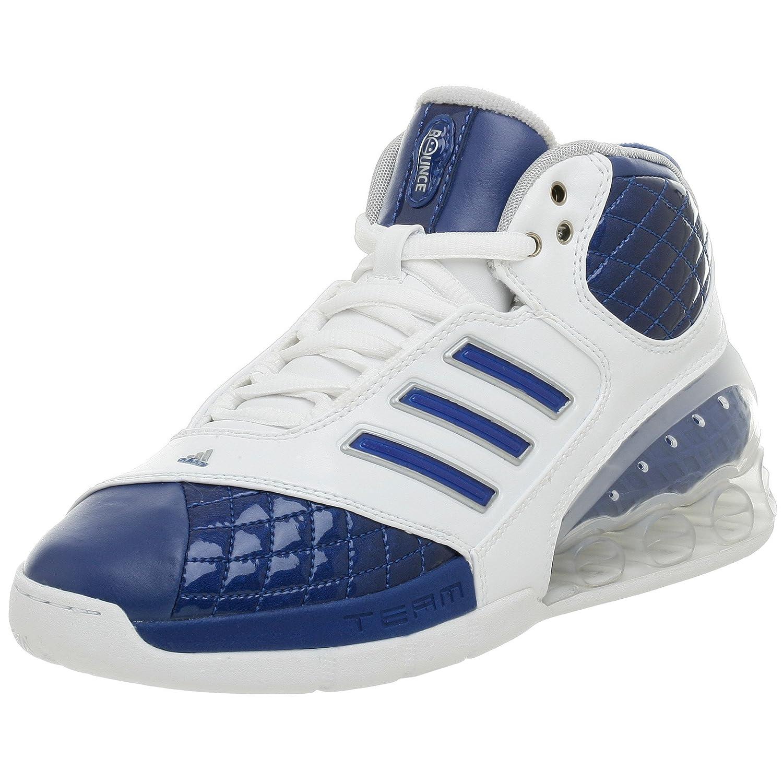 adidas Women's Team Bounce Basketball Shoe, White/Royal/Silver ...