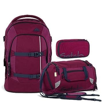 8d46328d82bd2 Satch Pack by Ergobag Pure Purple 3-tlg. Set Schulrucksack + Sporttasche +  Schlamperbox