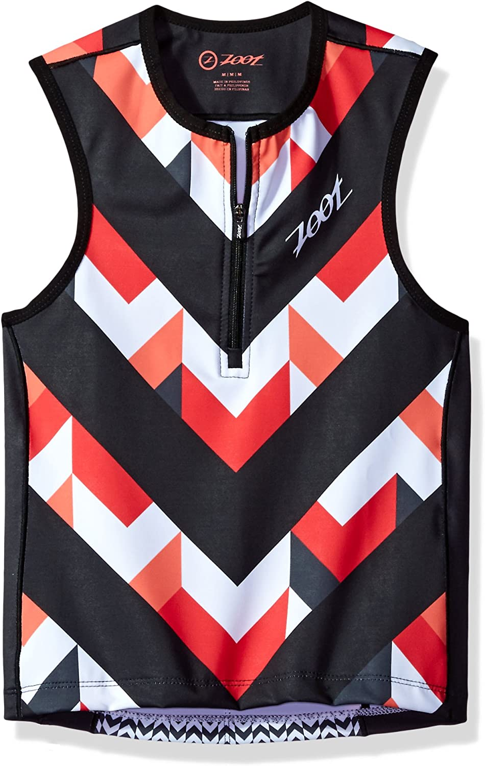 Large Chevron Stripe Zoot Sports Unisex Sports Protege Tri Top