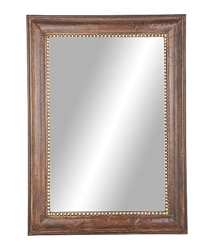 Amazon.com: Deco 79 - Espejo de pared, grande, color marrón ...