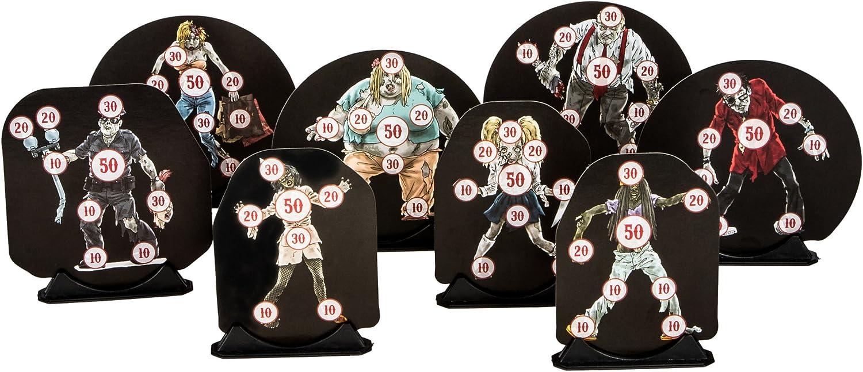 Da Grecker Zielscheiben Design Target Zombie Motiv 50 Stück INKL. 10 Halter - Dianas de Tiro con Arco