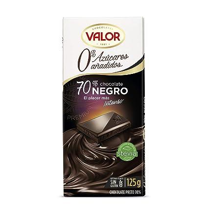 Valor Chocolate Negro de 70% Cacao - 125 g: Amazon.es ...