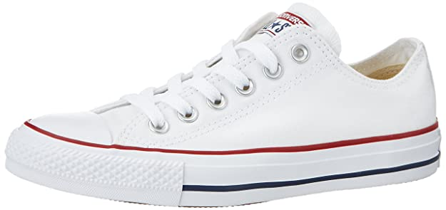 Converse Unisex Chuck Taylor All Star Low Top Optical White Sneakers - 5.5 D(M)