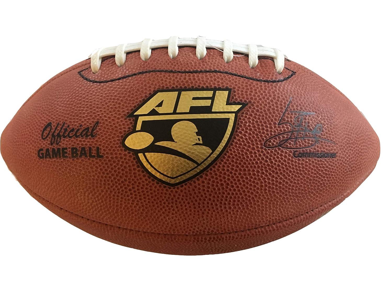 Spalding AFL 公式レザーゲームボール アリーナ フットボールリーグ 2016 プロダクション ホワイトレース/ストライプ MPN 72-7078l