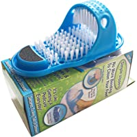 Magic Feet Cleaner,Feet Cleaning Brush,Foot Scrubber for Washer Shower Spa Massager Slippers, 1 Pc(Blue)