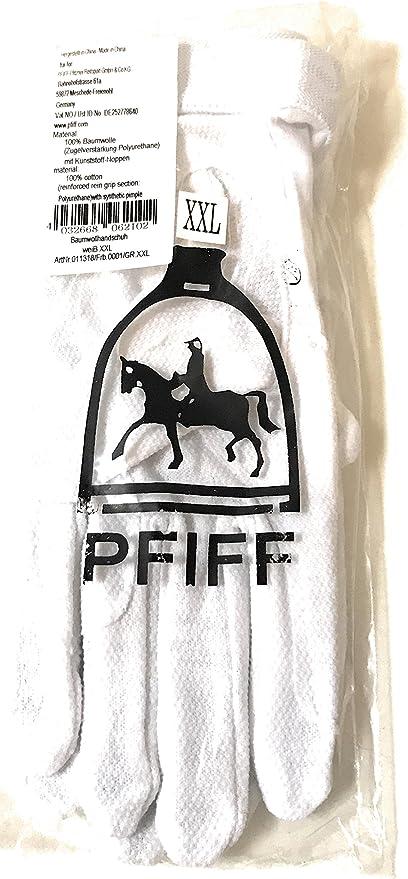 Piff Pfiff – Guantes (algodón Blanco XXL Guantes de equitación ...