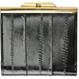 Genuine Eel Skin Soft Leather French frame Design Wallet by Marshal