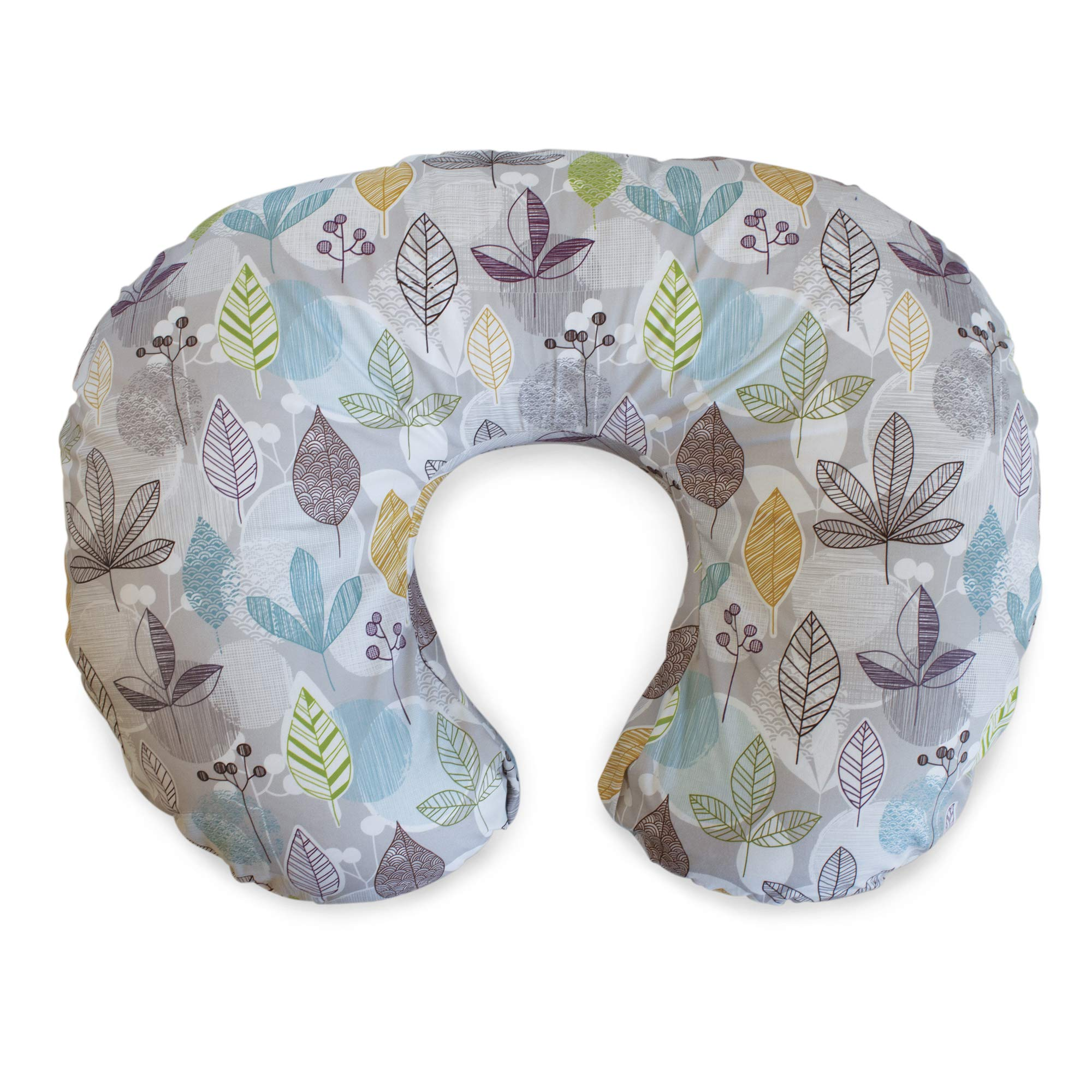 Boppy Original Nursing Pillow and Positioner, Colorful Leaves, Cotton Blend Fabric with allover fashion