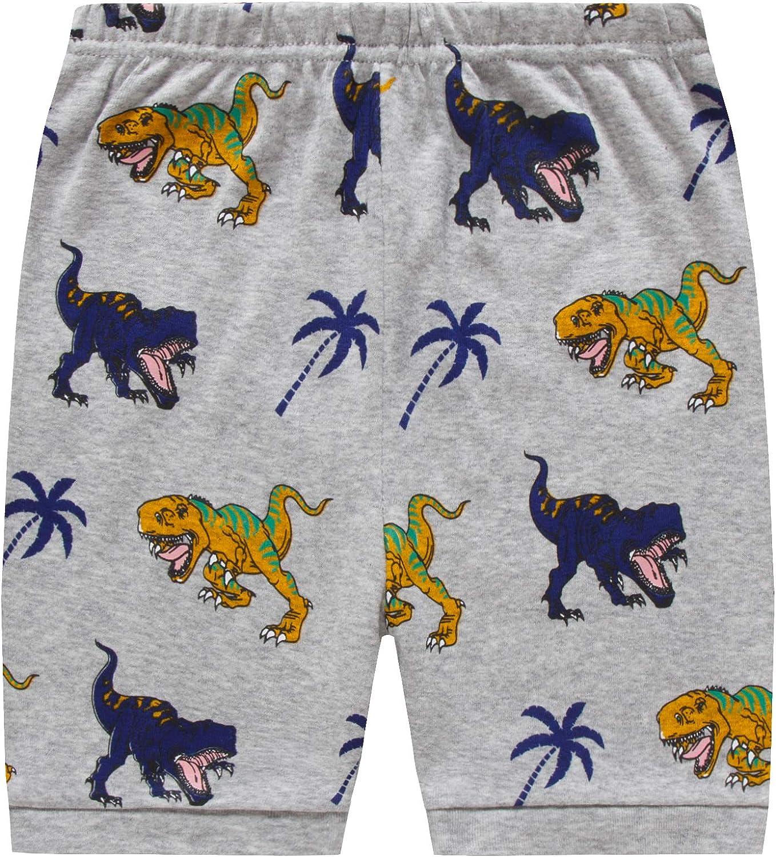 Pigiama corto per bambini con dinosauro spaziale abbigliamento estivo in cotone 2 pezzi per bambini Pjs abbigliamento da notte per bambini 1-10 anni