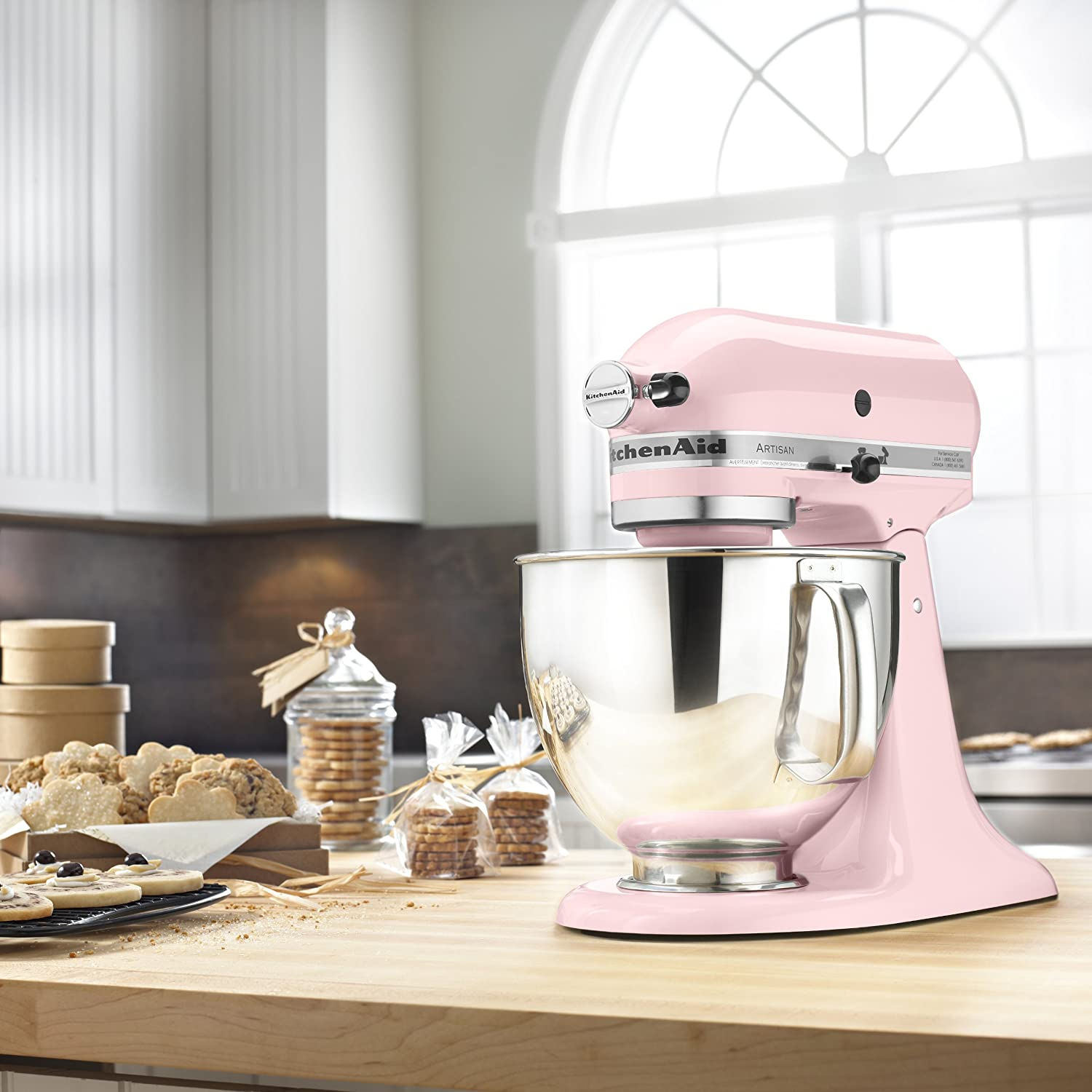 Kitchenaid mixer pink price - Amazon Com Kitchenaid Ksm150pspk Artisan Series 5 Qt Stand Mixer With Pouring Shield Pink Kitchen Dining