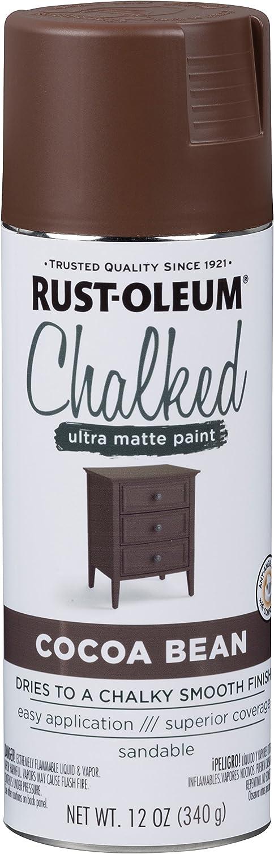 Rust-Oleum 329194 Chalked Ultra Matte Spray Paint, 12 Oz, Cocoa Bean