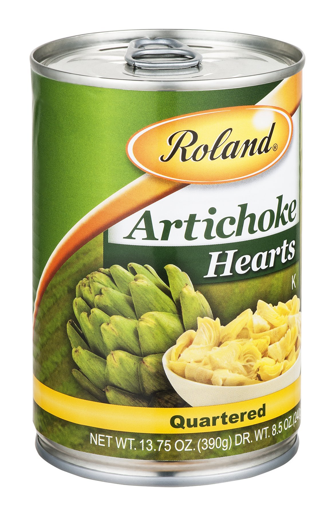 Roland Artichoke Hearts Quartered 13.75 OZ (Pack of 24) by Roland
