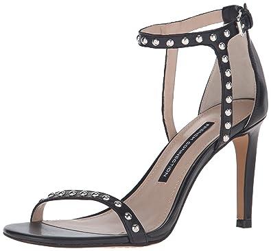 French Connection Women's Libby Dress Sandal, Black, 7 M US / 37 EU