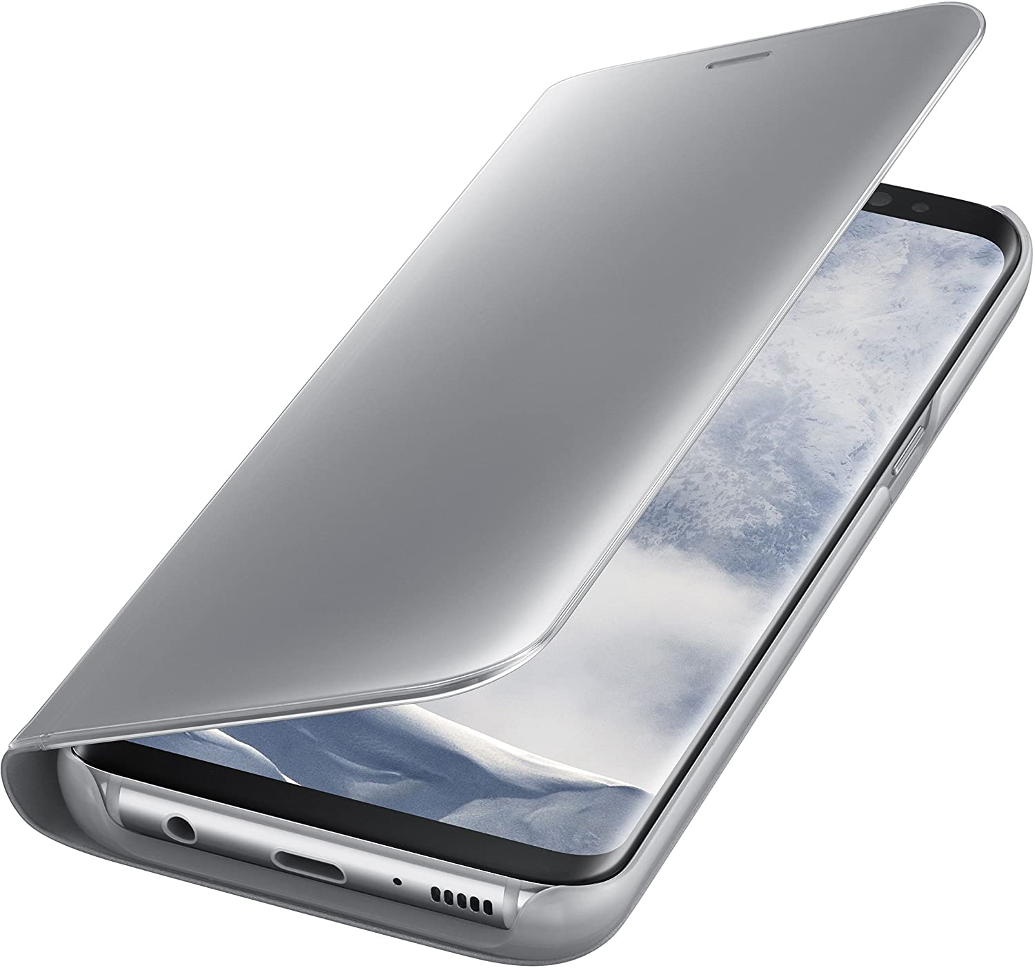Amazon.com: Genuine Samsung Clear View Standing Cover Flip Case For Samsung  Galaxy S8   Silver (EF ZG950CSEGWW): Cell Phones U0026 Accessories