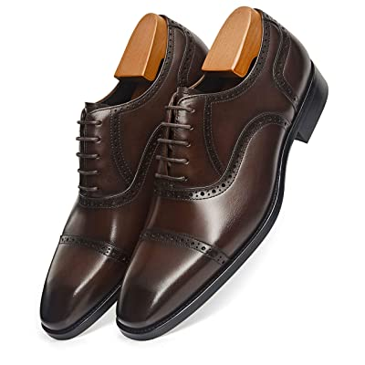 Amazon.com | Alipasinm Men's Dress Shoes Oxford Formal Modern Leather Shoes for Men | Oxfords