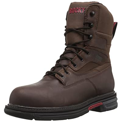 ROCKY Men's RKK0179 Construction Boot, Brown, 9.5 M US | Industrial & Construction Boots