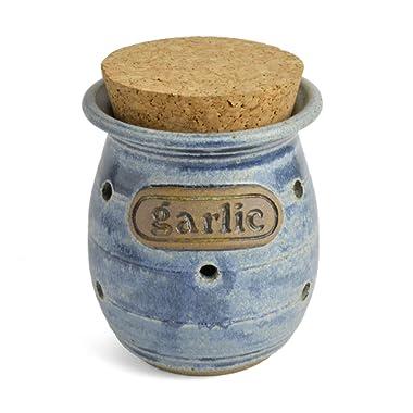 The Potters, LTD Garlic Jar, Vintage Denim