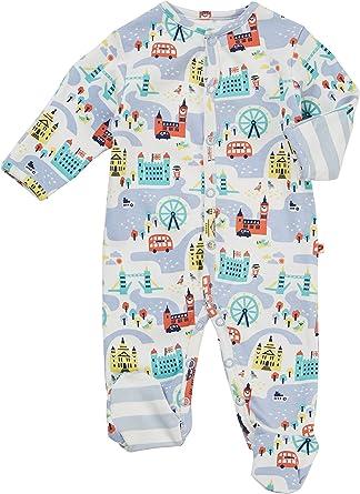 Piccalilly London - Pijama de bebé con pies, algodón orgánico, recuerdo británico, regalo para recién nacido: Amazon.es: Ropa y accesorios